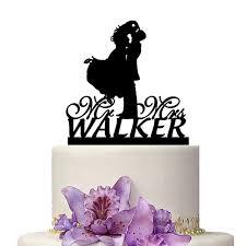 custom wedding cake topper custom wedding cake topper mr mrs walker marriage decoration