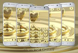 Dialer Hearts Gold Theme Apk Download Free Personalization