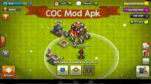 clash of clash apk clash of clans mod v9 256 19 unlimited gems gold elixir apk