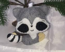 raccoon ornament etsy