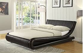 enzo italian designer faux leather double bed stunning design in