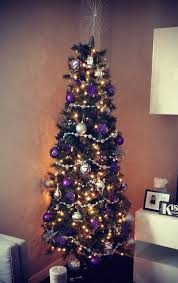 purple and red christmas tree decorations my web value