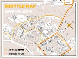 Kansas State Campus Map by Shuttle Fort Hays State University