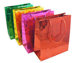 present bags 12 new wholesale metallic hologram party gift present bags 21cm x