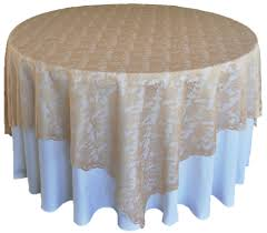 Chagne Lace Table Overlays Topper Wedding