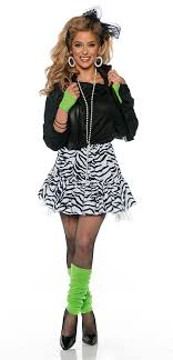 costumes for women women s black white rockin the 80s costume candy apple costumes