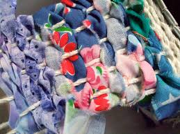 acorn pies weaving fabric scraps with children
