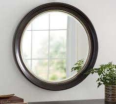 Circle Bathroom Mirror Brussels Round Mirror Pottery Barn