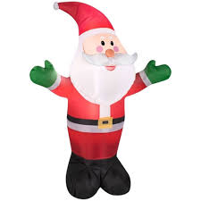 santa claus inflatable christmas electric lighted yard decor 7 ft