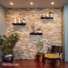 create a faux stone accent wall family handyman