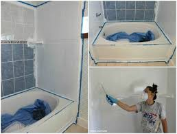 Can You Paint Bathroom Tile In The Shower How To Refinish Outdated Tile Yes I Painted My Shower House