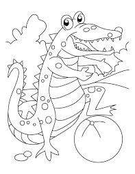 alligator playing football coloring download free alligator
