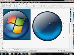 tutorial design logo corel draw x5 corel draw x5 tutorial window 7 logo youtube