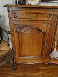 antique french country buffet sideboard server provence carved
