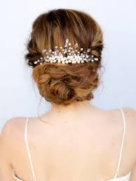 delicate pearl and rhinestone beaded bridal hair comb