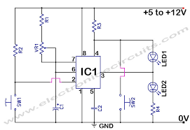 555 timer time delay circuit electronic circuits