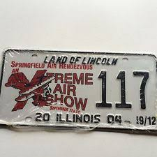 Illinois Vanity License Plates Collectible Illinois License Plates Ebay