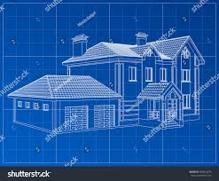 3d render building vector contours houses stock vector 384610675