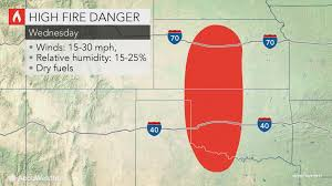 Texas Wildfire Danger Map by Gusty Winds Dryness To Continue Brush Fire Threat Over Us