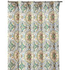 Cynthia Rowley Drapery Amazon Com Cynthia Rowley Fabric Shower Curtain Orange Turquoise