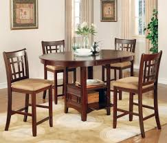 5 piece counter with oval storage table furniture store chicago