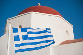 Greek Flag Background File Sky Blue White Flag Of Greece Against The Background Of The
