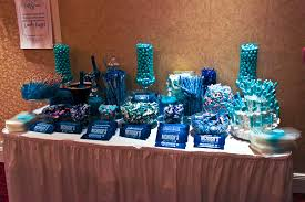 blue candy buffet waiting for the guests to arrive contagious