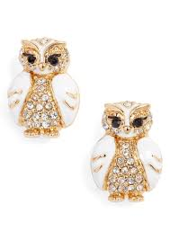 owl stud earrings kate spade kate spade new york bright owl stud earrings