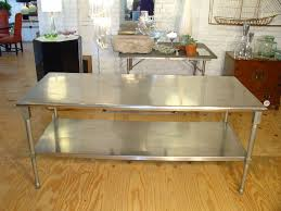 kitchen stainless steel kitchen table intended for amazing