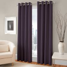 Gray And Purple Bedroom by Pretty Purple Room Darkening Curtains With Silver Rods On Gray