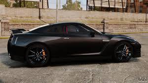 black nissan sports car nissan gt r black edition r35 2012 for gta 4