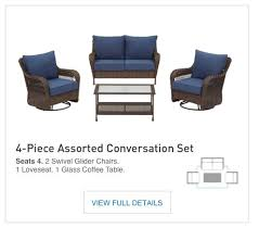 Patio Furniture Boise by Shop The Glenlee Patio Collection On Lowes Com