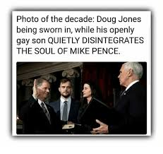 Doug Meme - photo of the decade doug jones being sworn in while his openly gay