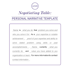 negotiating table personal narrative template levo
