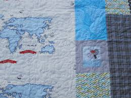 Map Quilt Robot Mom Sews Riding A Narwhal