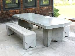 concrete and wood outdoor table concrete outdoor furniture good patio in home design ideas with