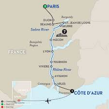 Paris France On A Map by River Cruise With Barcelona Spain Vacation Avalon Waterways