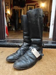 black leather motorcycle boots vintage 1970s 70s lewis leathers aviakit black leather motorway