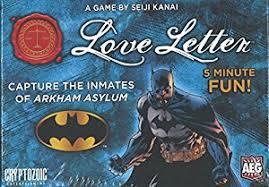 amazon com love letter batman boxed edition card game toys u0026 games