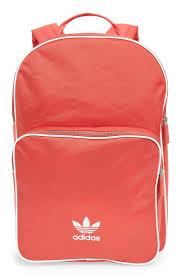 adidas classic trefoil backpack light pink adidas originals adicolor backpack red light red modesens