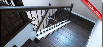 Solid Banister Affordable Stair Parts Iron Balusters Rail Newels U0026 Treads