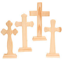 unfinished wooden crosses bulk unfinished wood craft crosses 9 at dollartree vbs