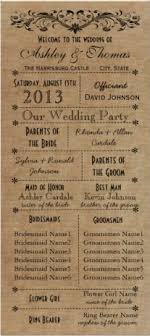 wedding programs rustic wedding program template wedding program printable ceremony