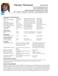 theatre resume templates acting template ber saneme