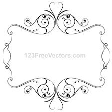floral ornament frame vector graphics 123freevectors