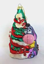 santa s best winnie the pooh blown european glass ornament