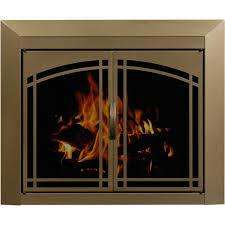 arched plate masonry fireplace glass doors manassa doors brick anew