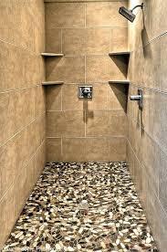 river rock bathroom ideas river rock shower floor shower design
