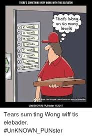 Sum Ting Wong Meme - there s something very wong with this elevator that s wong on so
