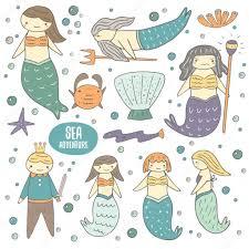 Mermaid Fairy Cute Mermaid Fairy Tale Characters U2014 Stock Vector Nadineveresk